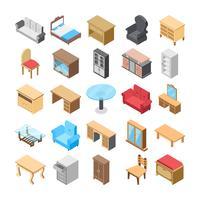 Pacote de ícones plana de móveis