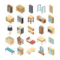 Pacote de ícones de vetor Flat interior de casa