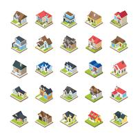 Casas edifícios ícones