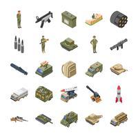 Forças armadas, forças especiais e conjunto de ícones do exército