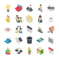 Ícones de escritório e organização vetor