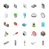 Pacote de entretenimento e outros ícones de objetos vetor