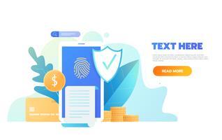 Proteção de dados vetor