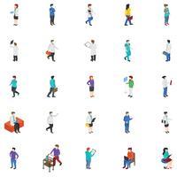 Ícones profissionais de pessoas