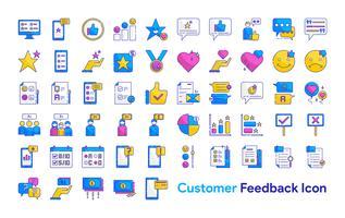 Conjunto de ícones de feedback do cliente