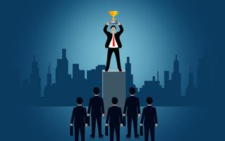 Empresário bem sucedido no negócio de finanças. vetor