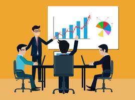 conceito de reunião de negócios de trabalho em equipe vetor