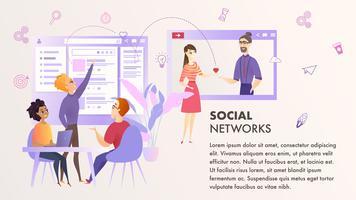 Equipe de marketing melhora o banner da experiência do usuário vetor