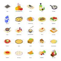 Alimentos e bebidas ícones vetor