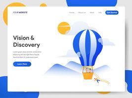 Modelo de página de destino do Vision and Discovery Hot Air Balloon