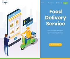 Sistema de Posicionamento Global de Serviços de Entrega de Alimentos Online vetor