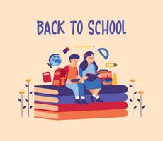 de volta ao projeto da escola vetor