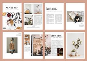 Modelo de Magazine - estilo de vida brochura vetor