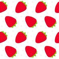 Padrão de fruta morango vetor