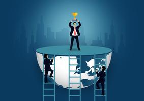 Concep bem sucedido da corrida da finança do negócio vetor