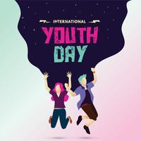 Cartaz do Dia Internacional da Juventude vetor