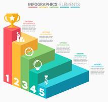 INFOGRAPHICS Business Stairs design vetor
