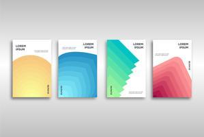 Modelo de capa moderna limpa abstrata gradiente