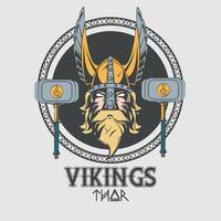 Guerreiros vikings vetor