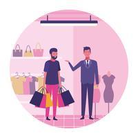 Homem, shopping
