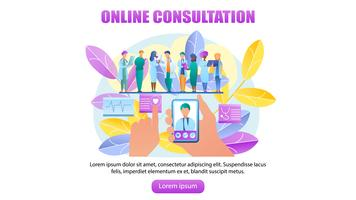 Médico de consulta on-line vetor