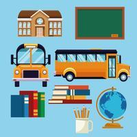 Escola, jogo, de, ícones vetor