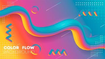 Fundo de cor gradiente líquido arco-íris, gradiente fluido