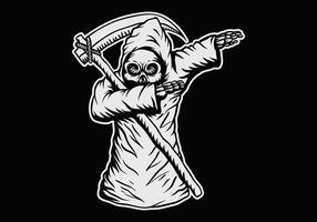 enxugando o crânio da morte vetor
