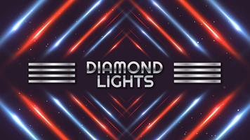 Fundo de espectro de luzes de diamante vetor