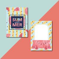 Cartão de convite de verão vetor