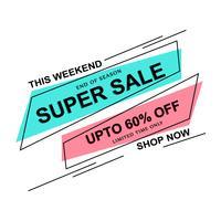 Modelo de Super venda colorido vetor