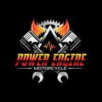 Ícone de símbolo de Design de motor automotivo de poder de fogo vetor