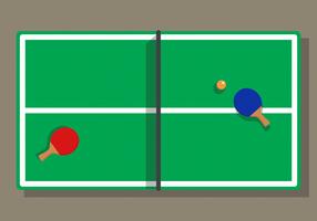 Ténis De Mesa Ping Pong vetor