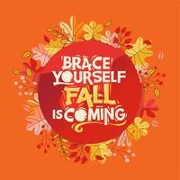 Cartão de saudação Outono com citação
