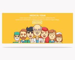 Banner da equipe médica vetor
