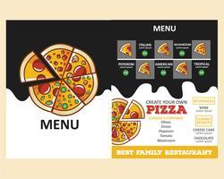 menu de pizza vetor