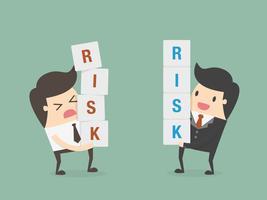 Homens de negócios gerenciando risco vetor