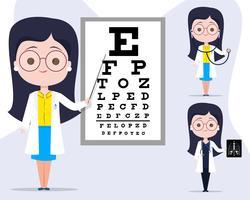 Personagem de médico de oftalmologia