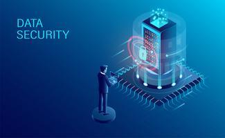 Segurança de dados vetor