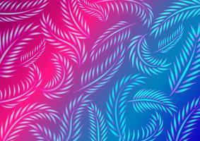 Padrão de folha de néon
