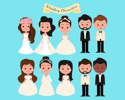 Personagens de casamento vetor
