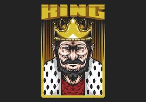 """Rei no quadro com texto """"King"""" vetor"""