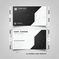 Cartão de visita preto e branco da tecnologia