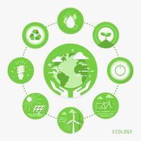 Infográfico de ecologia vetor