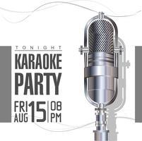 Poster retro de karaoke vetor