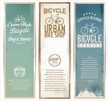 Cartaz de bicicletas vintage vetor