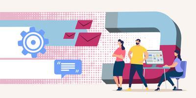 Respostas e mensagens da atração Bright Flyer vetor