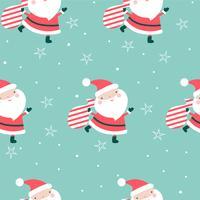 Natal sem costura padrão Papai Noel