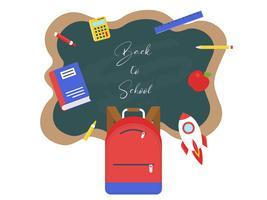 Volta ao modelo de cartaz da escola vetor