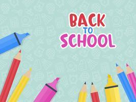 Volta ao modelo de cartaz da escola